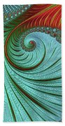 Teal And Red Beach Towel