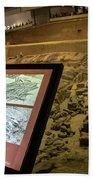 Terra Cotta Warriors In Pit 3 Ruins With Diagram Beach Towel