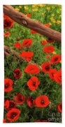 Texas Hill Country Wildflowers Beach Towel