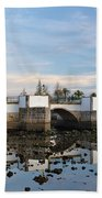 The Antique Bridge Of Tavira. Portugal Beach Towel