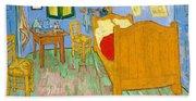 The Bedroom At Arles - Digital Remastered Edition Beach Sheet