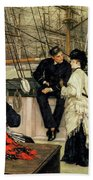 The Captain And The Mate, 1873 Beach Towel