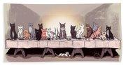 The Cat Supper Beach Towel
