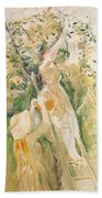 The Cherry Tree Study - 1891 - Musee Marmottan France Beach Towel
