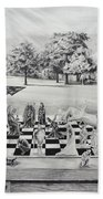 The Chess Game Beach Towel