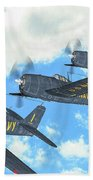 The First Blue Angels - Oil Beach Towel