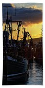 The Fishing Boats Of Oban - Scotland - Sunset Beach Towel by Jason Politte