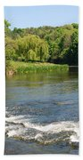 the ford at Etal on river Till Beach Towel
