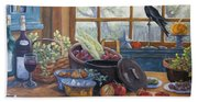 The Good Harvest Country Kitchen By Richard Pranke Beach Towel