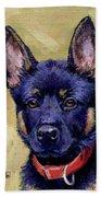 The Guard Dog Beach Towel