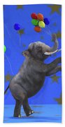 The Happiest Elephant Beach Towel