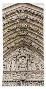 The Judgement Portal Of Notre Dame De Paris Beach Towel
