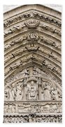 The Judgement Portal Of Notre Dame De Paris Beach Sheet
