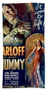 The Mummy 1932 Film Beach Towel