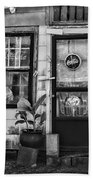 The Old Country Store Black And White Beach Towel