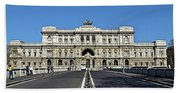 The Palace Of Justice, Rome, Italy Beach Towel