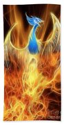 The Phoenix Rises From The Ashes Beach Towel