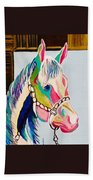 The Pink Horse Beach Towel