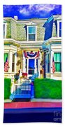 The Prince Albert Guesthouse-provincetown, Massachusetts  Beach Towel