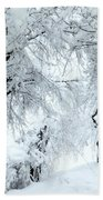 The Pure White Of Snow Beach Towel