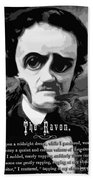 The Raven Edgar Allan Poe Beach Towel