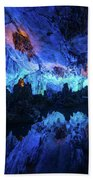 The Reed Flute Cave, In Guangxi Province, China Beach Towel