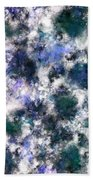 The Silent Blue Decay Beach Towel