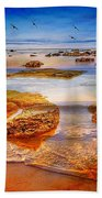 The Silent Morning Tide Beach Towel