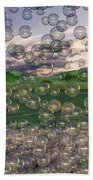 The Simplicity Of Bubbles  Beach Towel