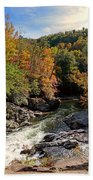 The Sinks On Little River Road In Smoky Mountains National Park Beach Towel