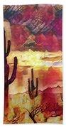 The Sonoran Saguaro  Beach Towel