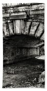 The Underpass Black And White Beach Towel