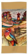 The Venician Bird Beach Towel