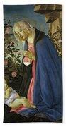 The Virgin Adoring The Sleeping Christ Child Beach Towel