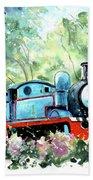 Thomas The Tank Engine In Buckfastleigh Beach Towel