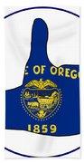 Thumbs Up Oregon Beach Towel