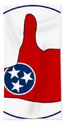 Thumbs Up Tennessee Beach Towel