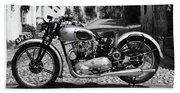 Tiger T100 Vintage Motorcycle Beach Towel