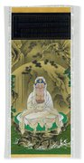 Top Quality Art - White Robed Kannon Beach Towel