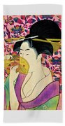 Top Quality Art - Woman With A Comb Beach Towel
