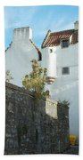 towerhouse and turret at Culross Beach Towel