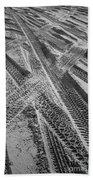 Tracks In The Sand Beach Towel