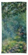 Trail In The Woods Beach Towel