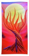 Trapped Moon Beach Towel