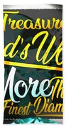 Treasure God's Word Beach Towel by Passion Give