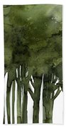 Tree Impressions 1b Beach Towel
