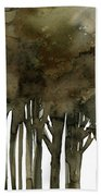 Tree Impressions No. 1a Beach Towel