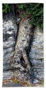 Tree In Stone Beach Towel