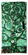 Tree Of Life Abstract Expressionism Beach Towel
