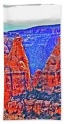 Trees Plateau Valley Color 2871ado National Monument  Beach Towel